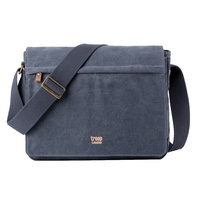Troop Classic Flap Front Messenger Bag Blue Large