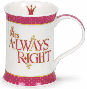 Dunoon Cotswold Mrs Always Right Mug