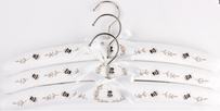 Alice & Lily Embroidered Linen Bees Hangers - Set of 3