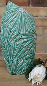 Banyan Multi Palm Leaf Vase 54cmH - Green