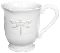 French Country Dragonfly Coffee Mug White