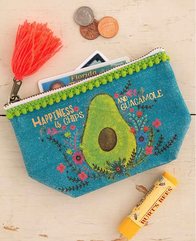 Natural Life Chips & Guacomole Mini Canvas Pouch 10x14cm