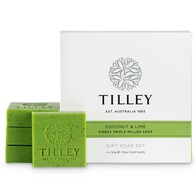Tilley Coconut & Lime Guest Soaps 4 x 50g