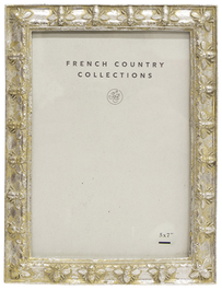 French Country Bee Rect Frame - Silver 5x7""