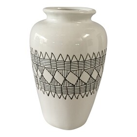 OneWorld Sahara Painted Ceramic Vase