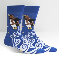 Sock it to Me Penguin Taking Flight Mens Crew Socks