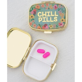 Natural Life Chill Pills Pill Box - Gold