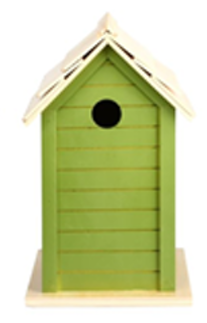 Esschert Design Green Bird House 16x15x25cm