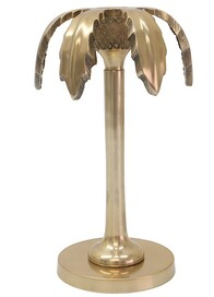 Le Forge Palm Polished Brass Candlestick 20cm