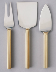 Nel Lusso Lino Cheese Knife Set of 3