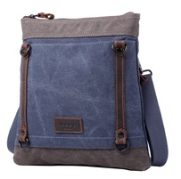 Troop Stockholm Shoulder Bag Blue/Grey