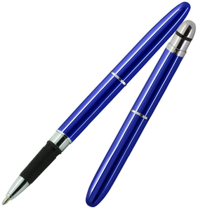 Fisher Bullet Pen w Rubber Grip - Blue
