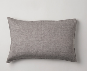 Citta Sove Chambray Linen Pillowcase - Ash Standard