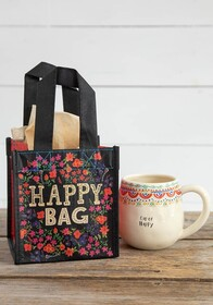 Natural Life Happy Floral Recycle Gift Bag Small