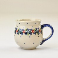 Boleslawiec Floral Wreath Belly Mug Medium