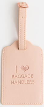 Stella & Gemma Baggage Handlers Travel Tag - Blush