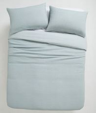 Citta Cialda Washed Waffle Duvet Duck Egg King