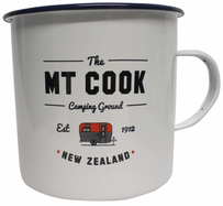 Moana Road Mt Cook Enamel Mug - White Small