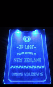 Moana Road If Lost Return to NZ Luggage Tag