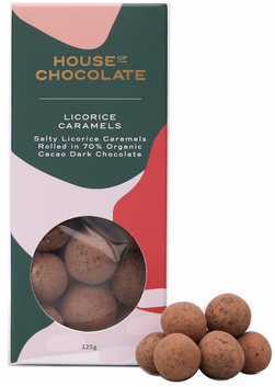House of Chocolate Salted Licorice Caramel Dragees - 125g
