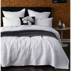 MM Linen Taika Bedcover Set - White