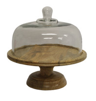 French Country Ploughmans Board Cake Dome on Stand 32 x 31 x 31cm