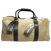 Moana Road Paihia Canvas Overnight Bag Black