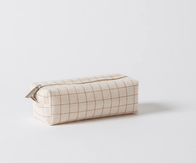 Citta Grid Wash Bag Toffee/Natural Small