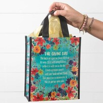 Natural Life Blue Floral Giving Bag