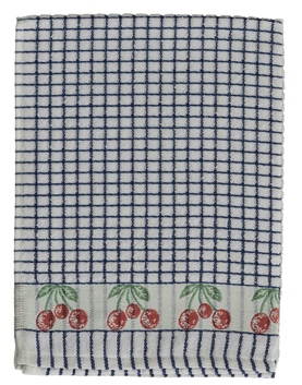Samuel Lamont Polidri Tea Towel - Blue Cherry