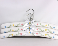 Alice & Lily Embroidered Botanic Hangers - S/3