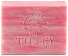 Tilley Pink Lychee Pure Vegetable Soap - 100g