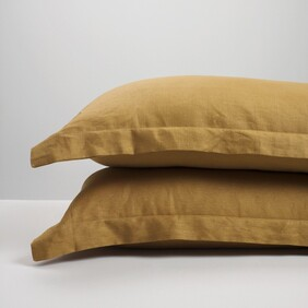 Thread Linen P'cases - Cinnamon Std Pair