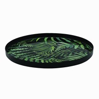 Madras Rainforest Round Metal Platter