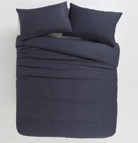 Citta Inku Cotton Linen Duvet Cover Midnight King