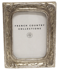 French Country Antique Mini Rectangular Frame - Silver 2x3""