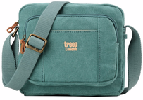 Troop Classic Zip Top Satchel Turquoise Small