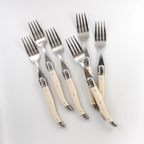 Laguiole Table Forks Ivory Set/6