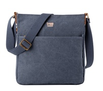 Troop Classic Zip Top Shoulder Bag Blue