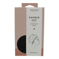 Simply Essential Crinkle Shower Cap Black