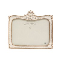 French Country White Wash Embellished Rect Frame 5x7""