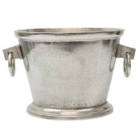 Le Forge Aluminium Oval Wine Bucket - Raw Silver