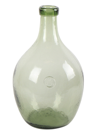 French Country Bottle Vase Large 22x22x36cmH - Green
