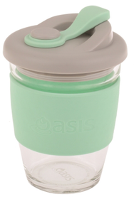 Oasis Borosilicate Glass Coffee Cup Spearmint 340ml