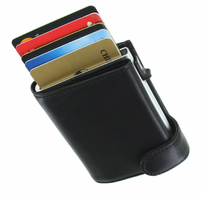 Tony Perotti Vegetale Leather Smart Wallet Black