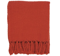 Furtex Rhapsody Acrylic Throw Burnt Orange - 130x150cm