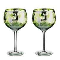 Artland Tropical Leaves Gin Glasses S/2