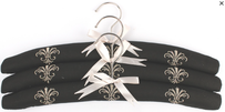 Alice & Lily Fleur de Lis Embroidered Hangers - Set of 3