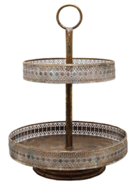 Christiana Rustic 2 Tier Cake Stand 36cm