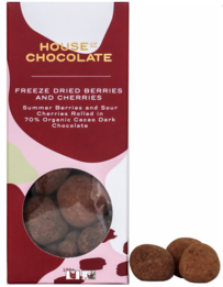 House of Chocolate Freeze Dried Berries & Cherries Dragees - 125g